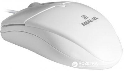 Миша Real-El RM-211 USB White