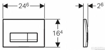 Панель смыва GEBERIT Delta 51 хром глянцевый 115.105.21.1