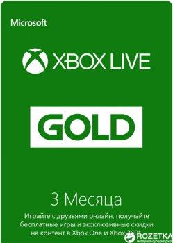 Xbox Live GOLD 3-місячна передплата: Картка оплати (конверт)