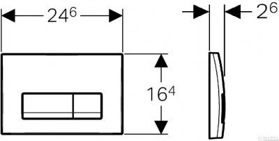 Панель смыва GEBERIT Delta 51 хром матовый 115.105.46.1
