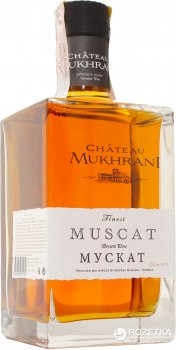 Вино Chateau Mukhrani Мускат біле солодке 0.7 л 18% у коробці (4860008470160)