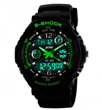 Чоловічі годинники Skmei S-Shock Green 0931