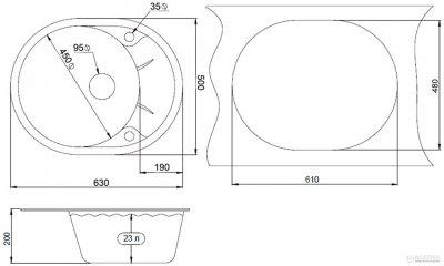 Кухонна мийка MINOLA MOG 1155-63 Еспресо