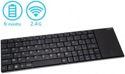 Клавиатура беспроводная Rapoo E2710 Touchpad