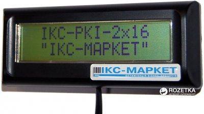 Індикатор клієнта ІКС IKC-РКІ-2х16-DB Black