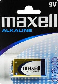 Батарейка щелочная (крона 9 V) Maxell Alkaline 6LR61 blister 1 шт (4902580150259)