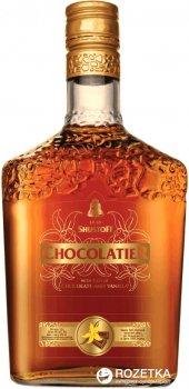 Коньячно-шоколадный алкогольный напиток Шустов Chocolatier. Chocolade & Vanilla 3 года выдержки 0.5 л 30% (4820000944519)