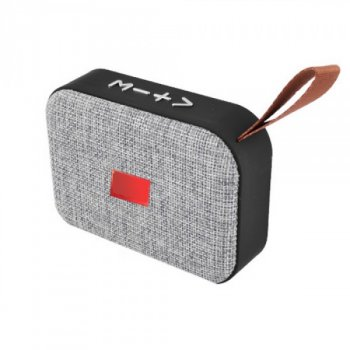 Bluetooth-колонка LUX A3, с функцией speakerphone, радио СЕРАЯ (TOP00492)