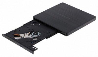 Оптичний привід зовнішній DVD+/-RW HITACHI-LG GP60NB60 USB 2.0, Ultra Slim Black