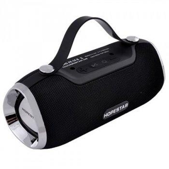 Портативна Bluetooth колонка Hopestar H40 з вологозахистом Black USB, з вбудованим FM-приймачем + кабель для зарядки