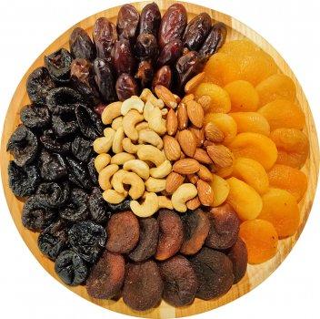 Тарілка подарункова SantaVita Асорті фруктово-горіхове №2 680 г (14820061500478)