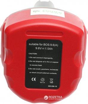 Акумулятор PowerPlant для Bosch GD-BOS-9.6 (A) 9.6 В Ni-Cd 1.5 А·год (DV00PT0029)