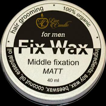 Моделюючий віск Live Candle для волосся, чоловічий, матовий (UA-ВММ)