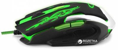 Миша Esperanza MX405 Cyborg USB Black/Green (EGM405)