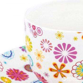 Чашка с блюдцем Krauff Blumen 230 мл (21-244-014)