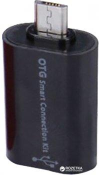 Перехідник Value OTG USB AF - MicroUSB AM Black (S0667)