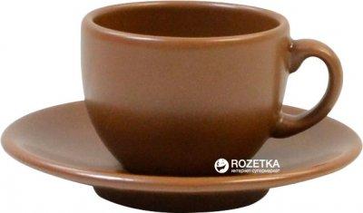 Чашка кофейная с блюдцем Keramia Табако 95 мл (24-237-048)