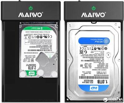 """Зовнішня кишеня Maiwo для HDD 3.5/2.5"""" SATA-USB3.0 (K3568)"""