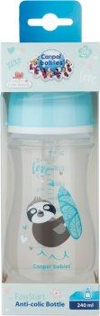 Бутылочка антиколиковая Canpol Babies EasyStart - Toys с широким отверстием 240 мл (35/221_blu)