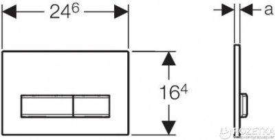 Панель смыва GEBERIT Sigma 50 белый/нержавеющая сталь 115.788.11.5