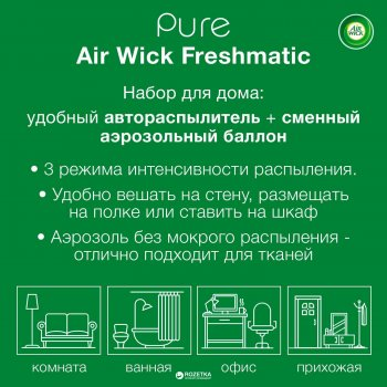 Автоматический освежитель Airwick Freshmatic Complete Pure Spring Delight со сменным баллоном Весеннее настроение 250 мл (5900627070293)