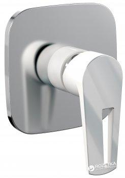 Смеситель скрытого монтажа для душа IMPRESE BRECLAV VR-15245WZ хром/белый, 35 мм