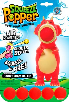 Стреляющая зверушка Squeeze Popper Дино (54361)