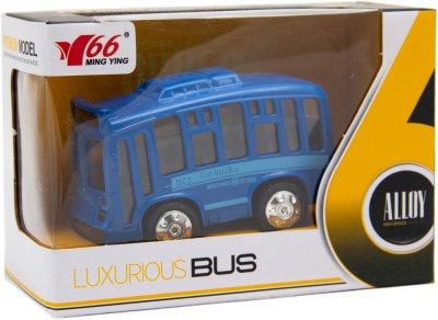 Автобус MingYuan металлический инерционный со светом и музыкой 1:36 Синий (A872784MK-W_синій)