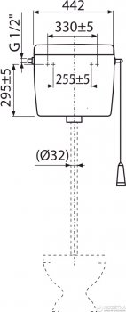 Бачок для унитаза ALCA PLAST Uni Start/Stop A94 универсальный (8594045936827)
