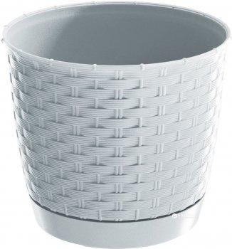 Вазон Prosperplast Ratolla з підставкою круглий 14.5 см Білий (70762-449)