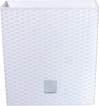Вазон Prosperplast Rato низький 2 в 1 квадратний 26.5 см Білий (70894-449)