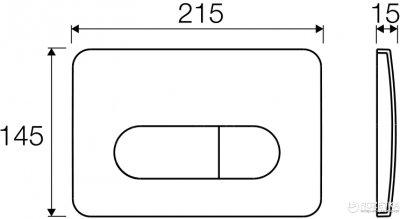 Панель смыва VALSIR P2 Tropea 3 хром глянцевый VS0872835