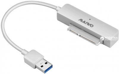 "Адаптер Maiwo для подключения HDD/SSD 2.5"" SATA к USB3.0 + контейнер защитный для HDD 2.5"" (K104-U3S white)"