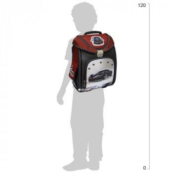 """Ранець шкільний каркасний-трансформер Cool For School 711 14"""" для хлопчика Black Car (CF85652)"""