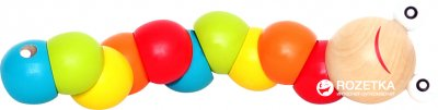 Деревянная игрушка Руді Гусеница-шарики (Д043у)