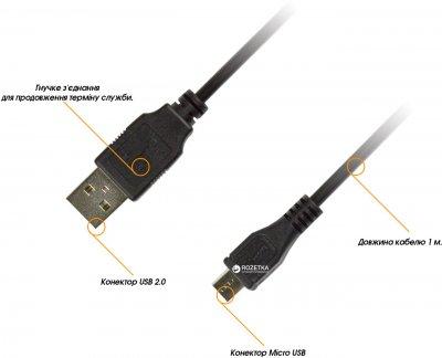 Кабель Piko microUSB BM-USB 2.0AM 1 м (1283126474088)