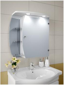 Шкаф зеркальный Garnitur.plus в ванную с LED подсветкой 14NS