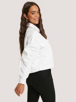 Джинсовая куртка NA-KD 1649-000029-0001 Белая