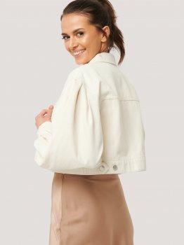 Джинсова куртка NA-KD 1018-003430-4080 Ніжно-рожева
