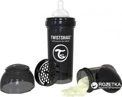 Антиколиковая бутылочка Twistshake 260 мл Черная (7350083120434)