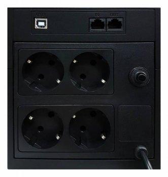 ДБЖ Powercom RPT-1025AP, 4 x євро, USB (00210192)