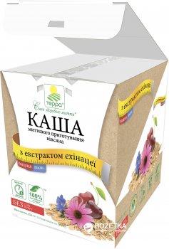 Каша вівсяна Терра миттєвого приготування з льоном, вишнею й екстрактом ехінацеї 456 г (шоу-бокс, 12 пакетиків по 38 г) (4820015734570)