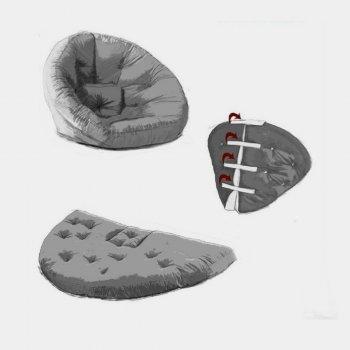 Крісло трансформер безкаркасне Lavibo Обіймашка рогожка М Сірий