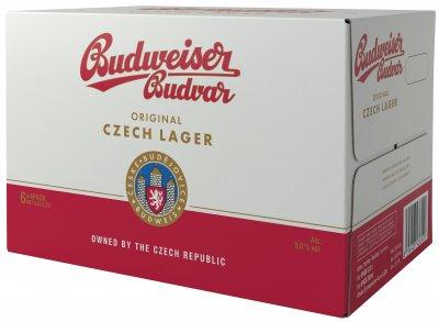 Упаковка пива Budweiser Budvar светлое фильтрованное 5% 0.33 л x 24 шт (8594403430127)