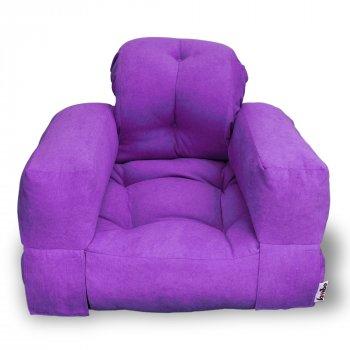 Крісло трансформер безкаркасне Lavibo Ультра оксфорд S Фіолетовий 200х90х15 см