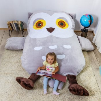 Дитяче безкаркасне ліжечко Lavibo Сова S 140х90 см