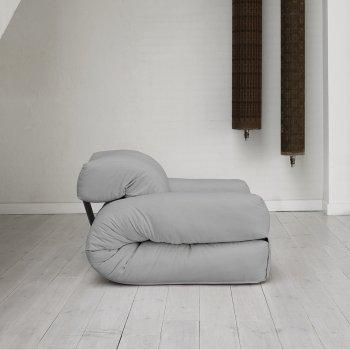 Крісло трансформер безкаркасне Lavibo Ультра рогожка L Сірий 200х90х25 см