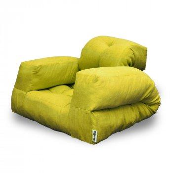 Крісло трансформер безкаркасне Lavibo Ультра велюр М Жовтий 200х90х20 см