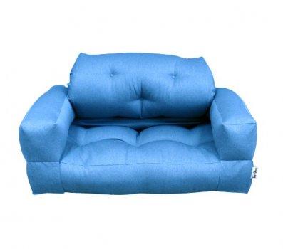 Диван безкаркасний трансформер Lavibo Ультра рогожка L Блакитний 200х140х25 см