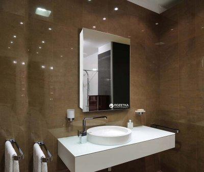 Зеркальный шкаф J-MIRROR Atlant 1 дверца без подсветки (правый) 70x20